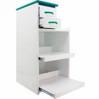 Dental Lab Mobile Utility Cabinet Cart Multi Drawers W/ Wheels Green