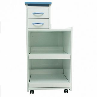 Mobile Utility Cabinet Cart Multi Drawers W/ Wheels Light Blue